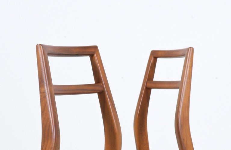Mid-Century Modern Walnut Dining Chairs 2
