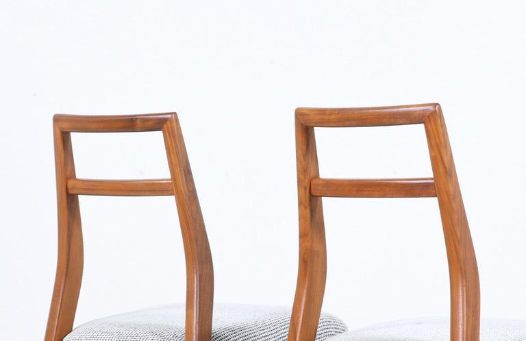 Mid-Century Modern Walnut Dining Chairs 3