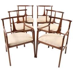 Mid-Century Modern Walnut Dining Chairs