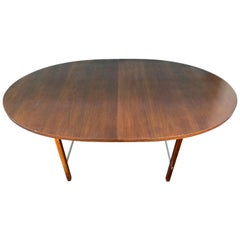 Mid-Century Modern Walnut Dining Table by Paul McCobb for Calvin 2 Leaves