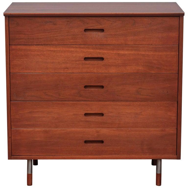 Mid-Century Modern Walnut Dresser For Sale