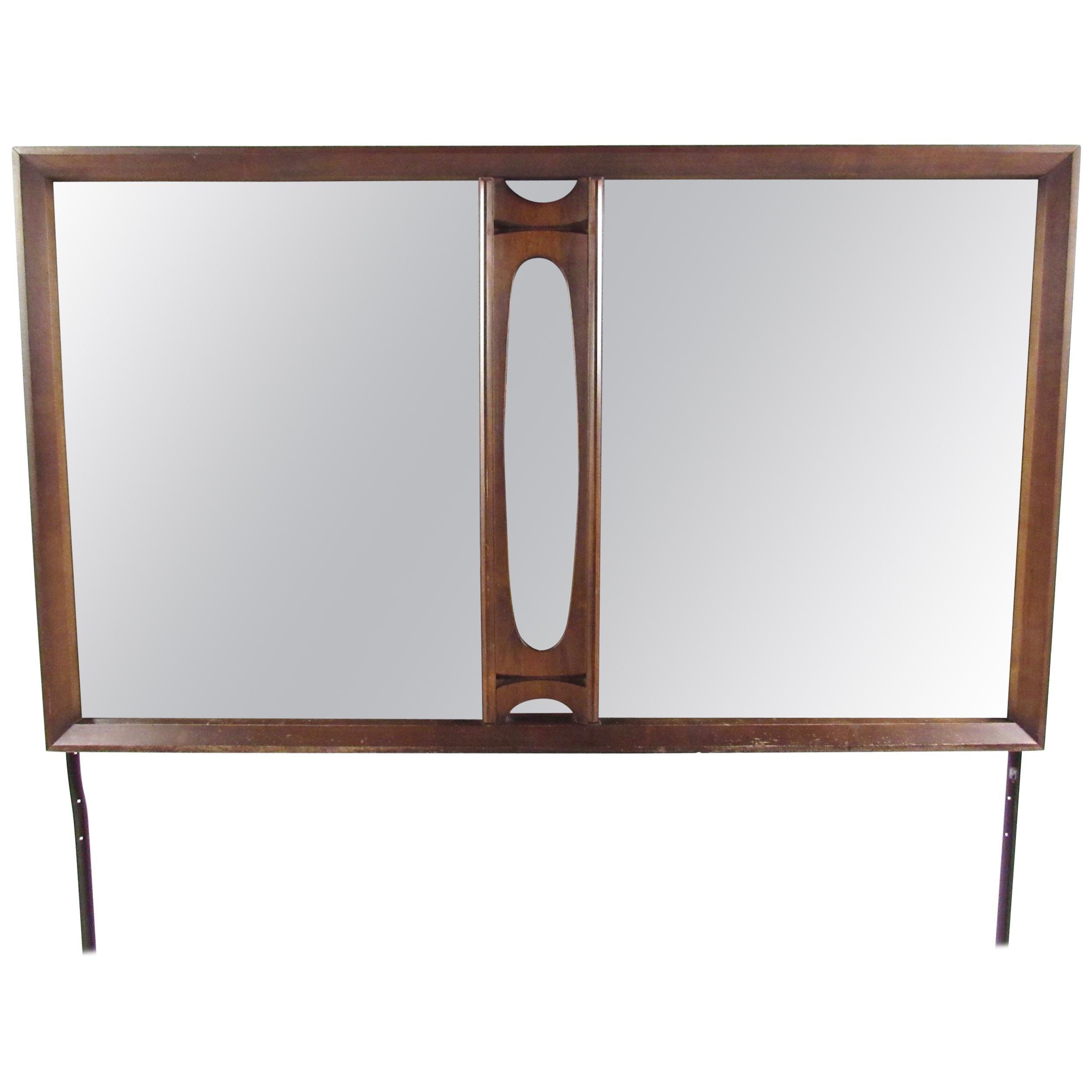 Mid-Century Modern Walnut Dresser Mirror