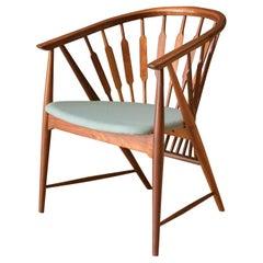 Mid-Century Modern Walnut Drexel Declaration Captain's Chair