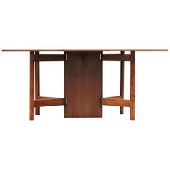 Mid-Century Modern Walnut Drop-Leaf George Nelson Dining Table Gate Leg