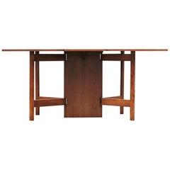 Mid-Century Modern Walnut Drop-Leaf George Nelson Dining Table Gate Leg