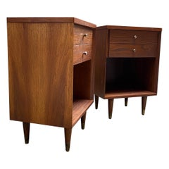 Mid-Century Modern Walnut End Tables for John Stuart