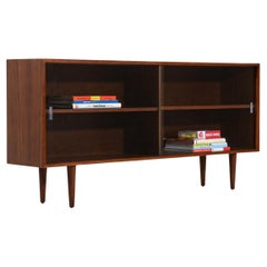 Mid-Century Modern Walnut & Glass Bookcase