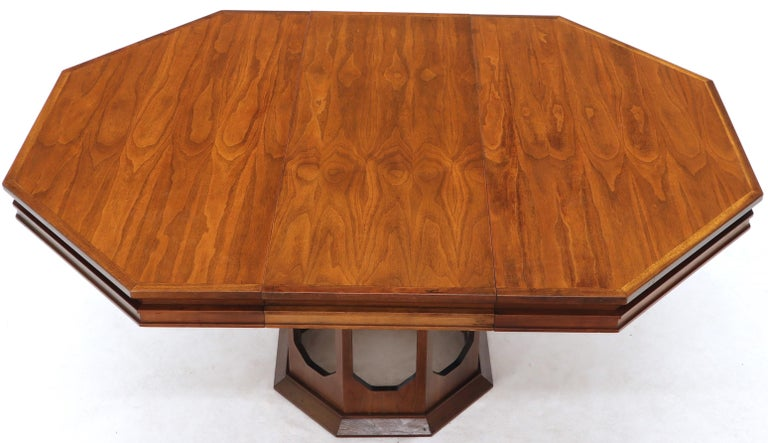 Oiled walnut hexagon dining table 1x18