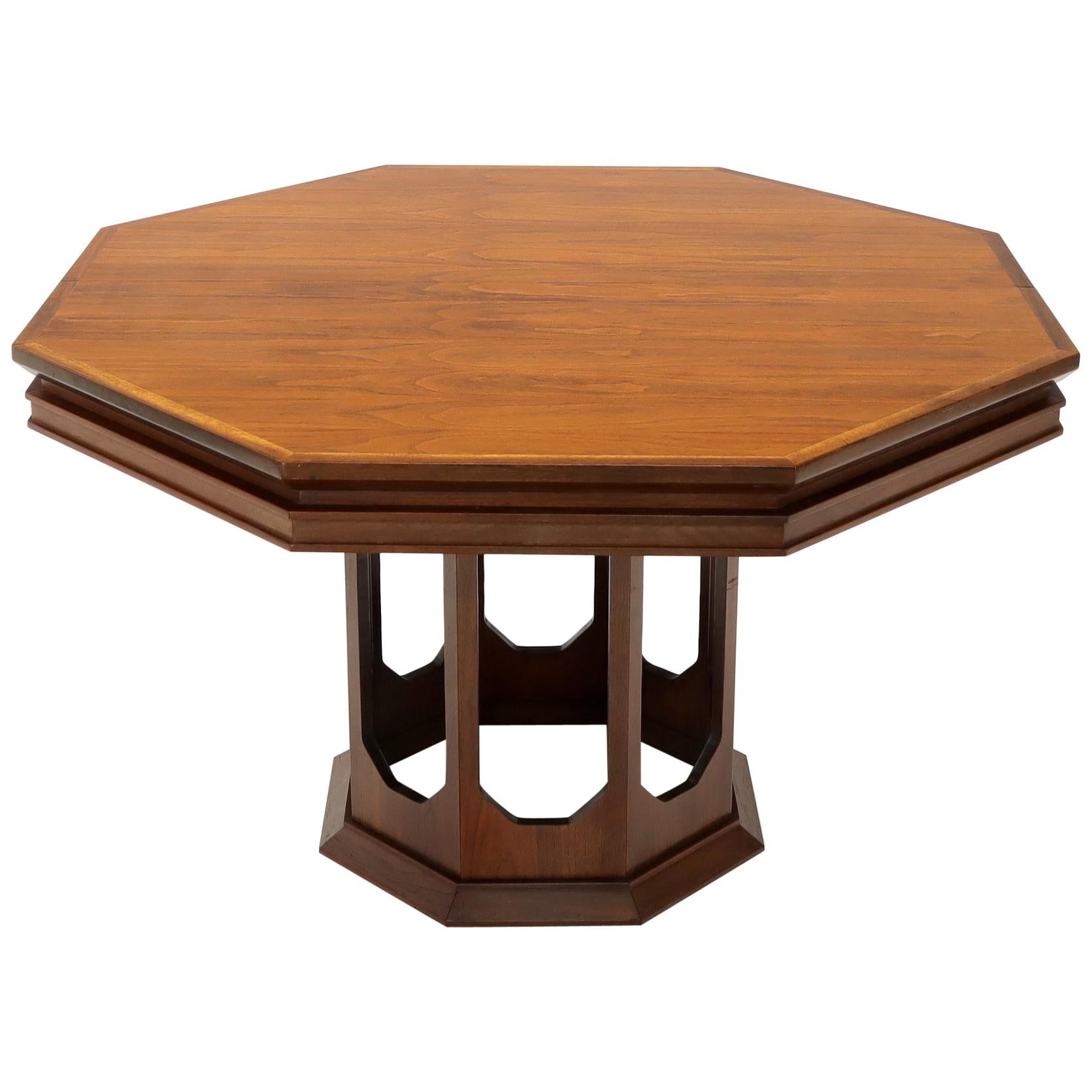 Groovy Mid Century Modern Walnut Hexagon Dining Table Pabps2019 Chair Design Images Pabps2019Com