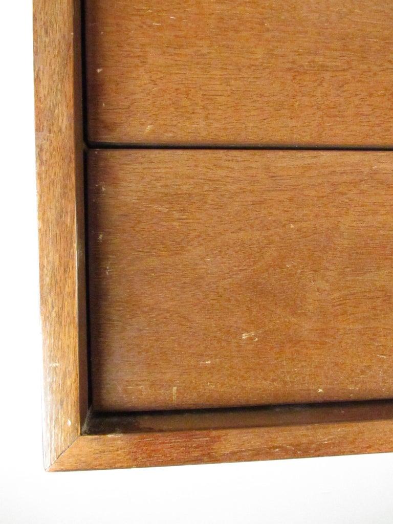 Mid-Century Modern Walnut Highboy Dresser For Sale 16