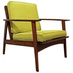 Mid-Century Modern Walnut Lounge Armchair
