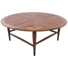 Mid-Century Modern Walnut Marquetry Coffee Table, Andre Bus for Lane, circa 1960
