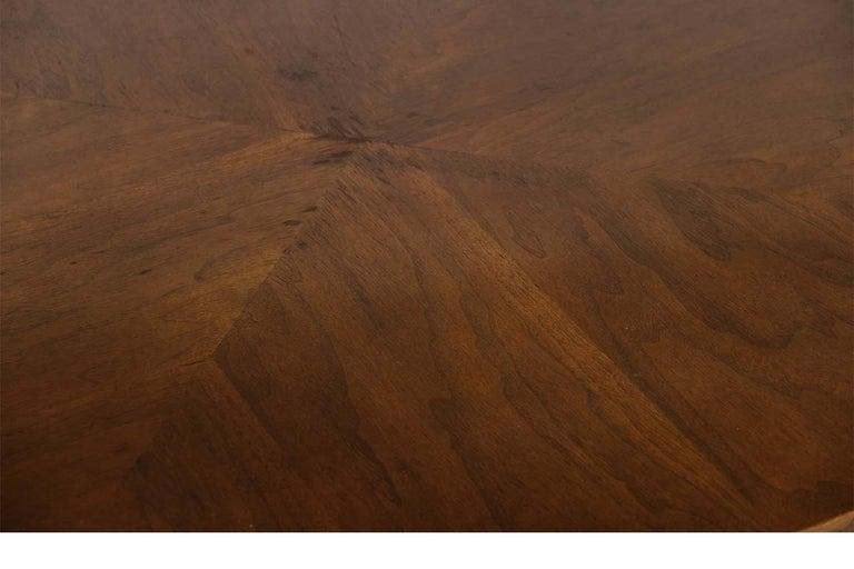 Mid-Century Modern Walnut Nesting Coffee Table For Sale 4