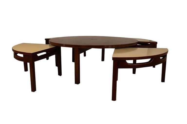 Mid-Century Modern Walnut Nesting Coffee Table For Sale 5