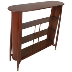 Mid-Century Modern Walnut Shelf or Telephone Table