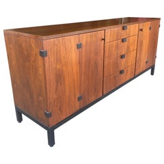 Mid-Century Modern Walnut Sideboard Credenza by Milo Baughman for Directional