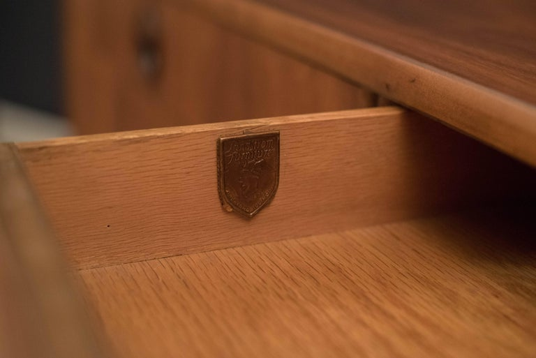 Mid-Century Modern Langstrom Walnut Dresser For Sale 5