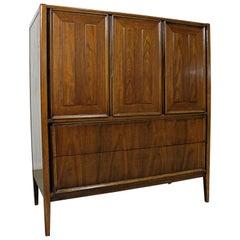 Mid-Century Modern Walnut Tall Chest Dresser