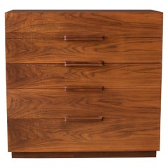 Mid-Century Modern Walnut Tall Dresser Chest by Ramseur