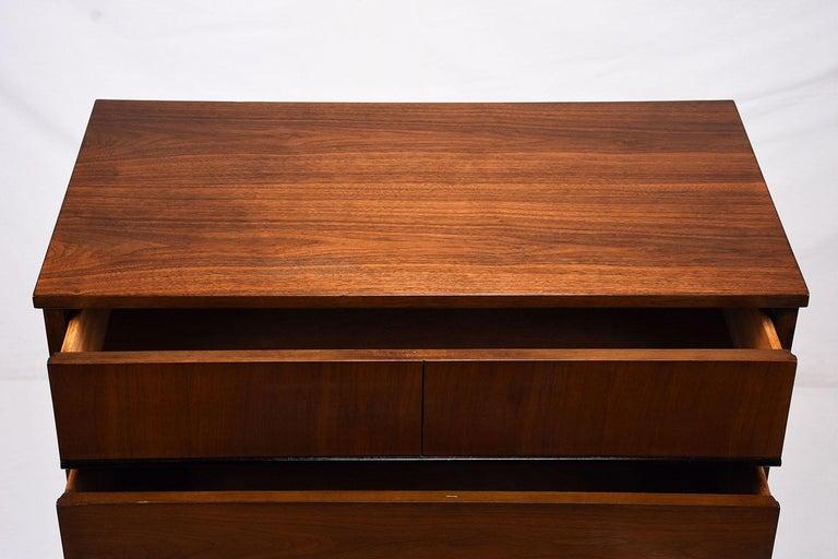 Mid-20th Century Mid-Century Modern Walnut Tall Dresser For Sale