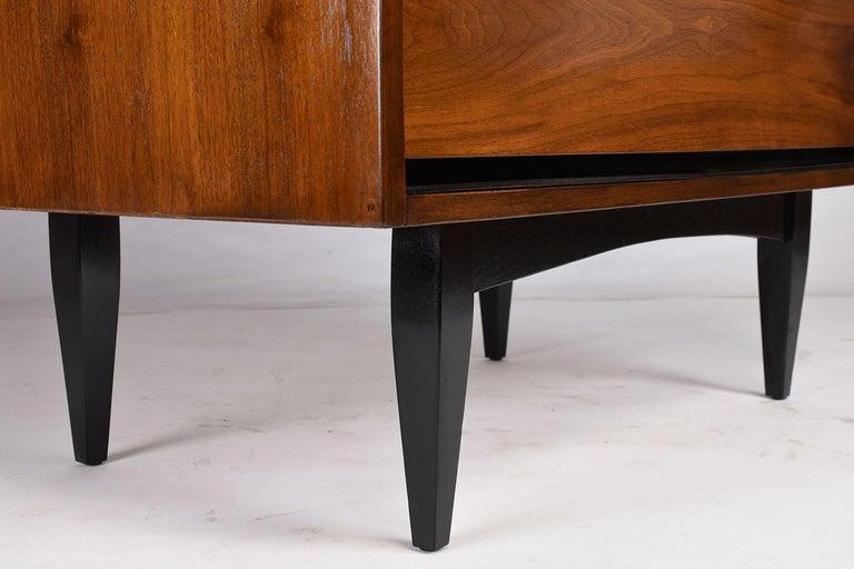 Wood Mid-Century Modern Walnut Tall Dresser For Sale