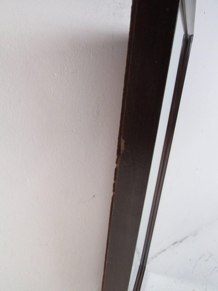 Mid-Century Modern Walnut Wall Mirror For Sale 3