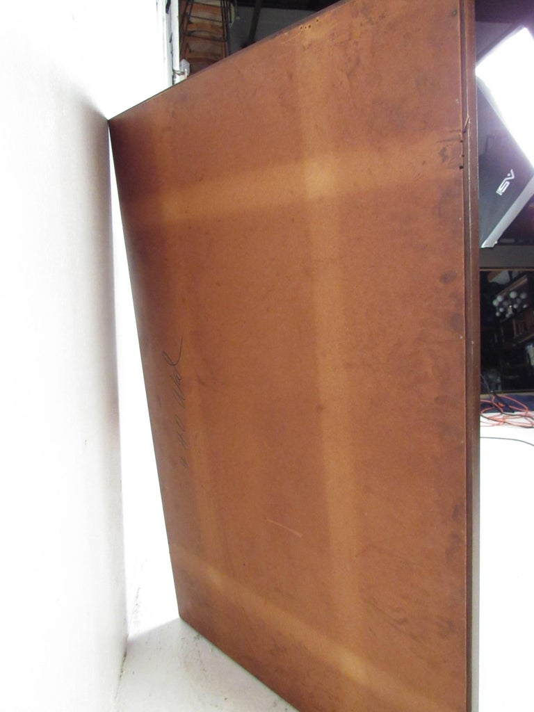 Mid-Century Modern Walnut Wall Mirror For Sale 5