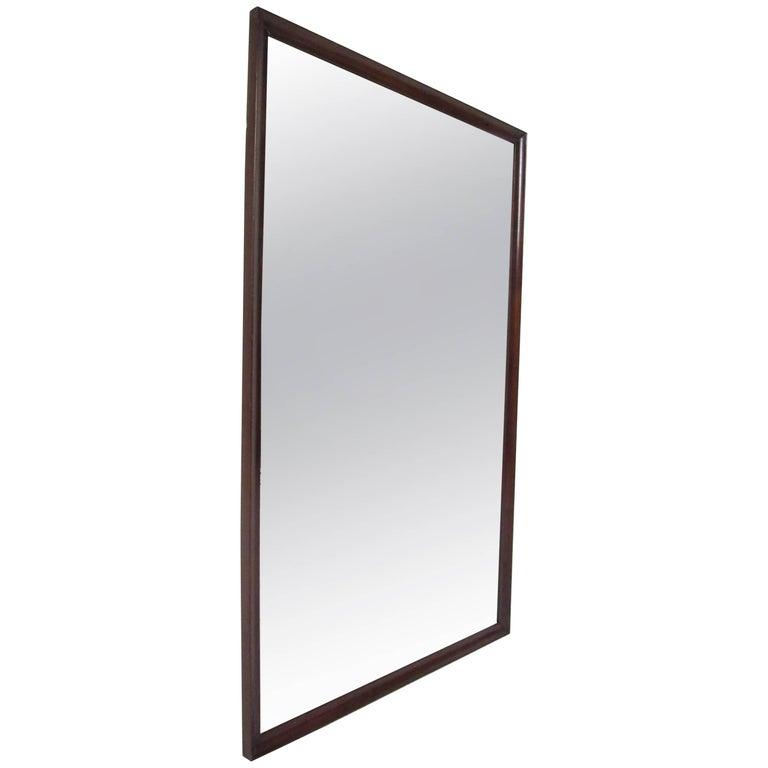 Mid-Century Modern Walnut Wall Mirror For Sale