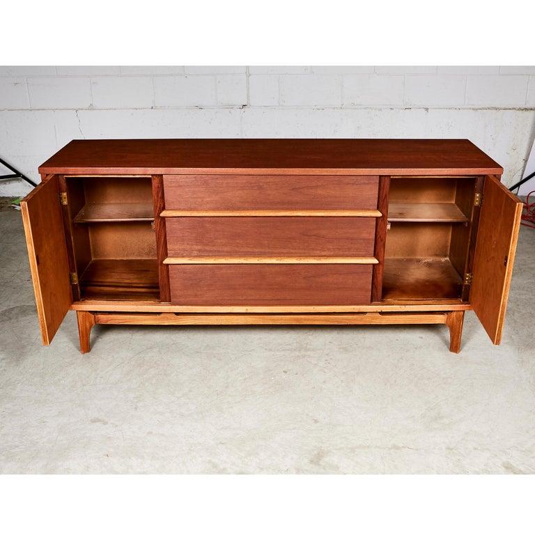 Mid Century Modern Walnut Wood Sideboard For Sale At 1stdibs