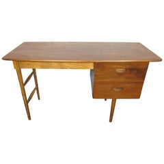 Mid-Century Modern Walnut Writing Desk