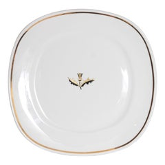 Mid-Century Modern Walter Dorwin Teague Conversation Plate, Taylor Smith Taylor