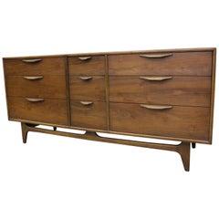 Mid-Century Modern Warren Church Lane Perception Triple Dresser Credenza 222-07