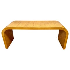 Mid-Century Modern Waterfall Console Table