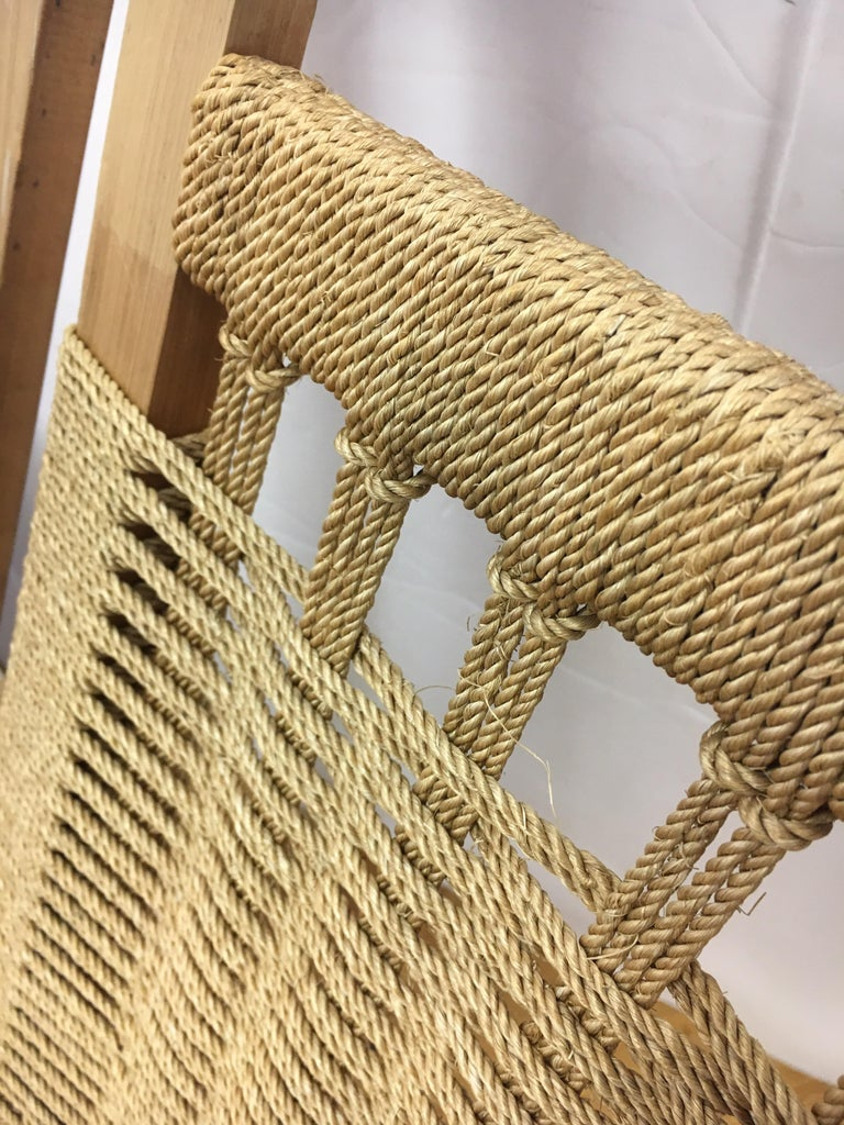 Mid-Century Modern  Rope Rocking Chair Rocker For Sale 5