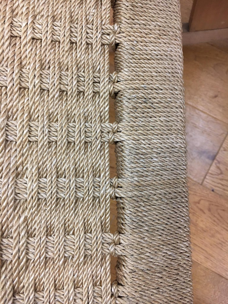 Mid-Century Modern  Rope Rocking Chair Rocker For Sale 8