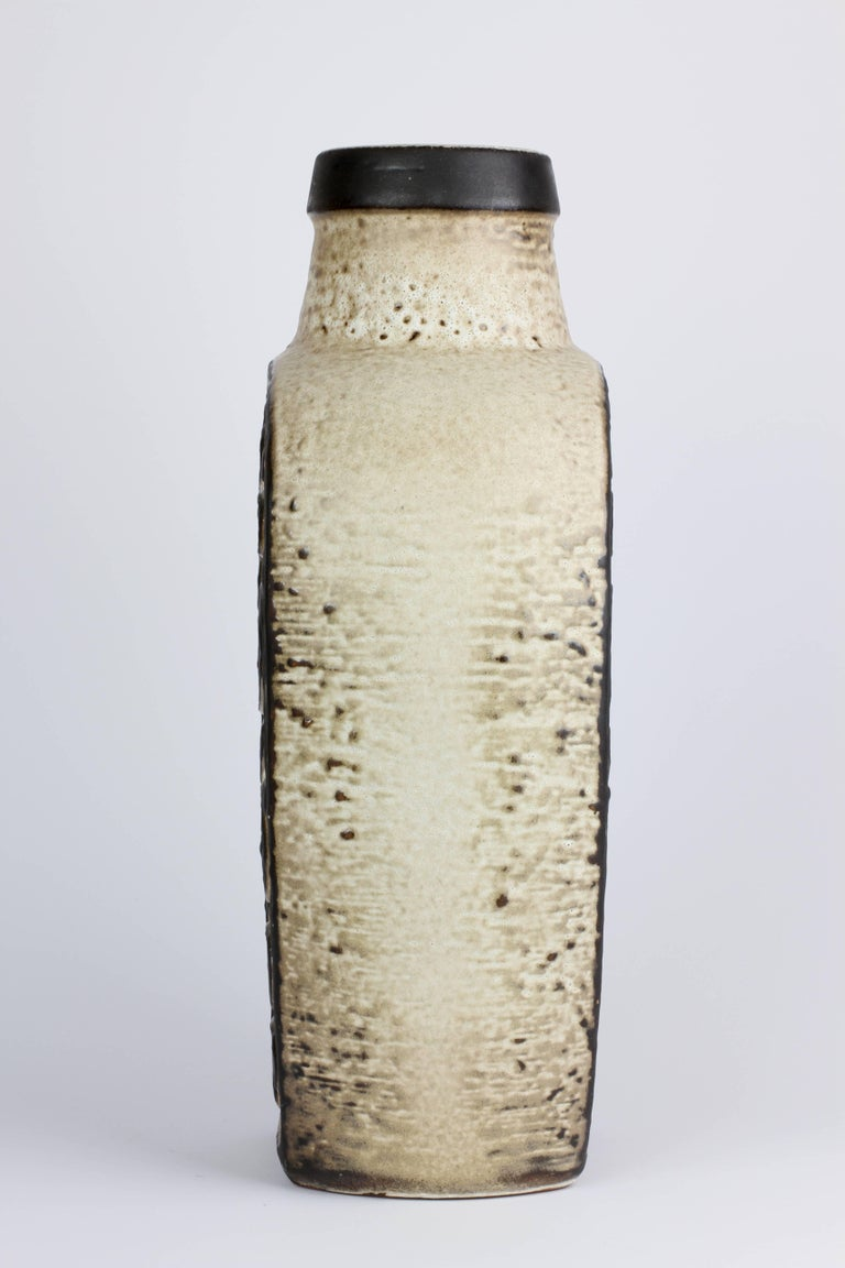 20th Century Mid-Century Modern West German Pottery Vase by Dieter Peter for Carstens, 1970s For Sale