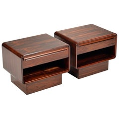 Mid-Century Modern Westnofa Rosewood Nightstands, Set of 2