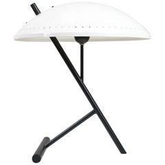 Mid-Century Modern White and Black Industrial Desk Light, Z-Model Philips, 1960s