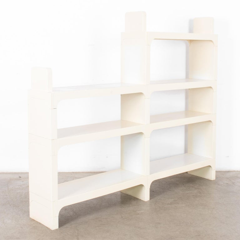 French Mid-Century Modern White Modular Shelves by Olaf von Bohr