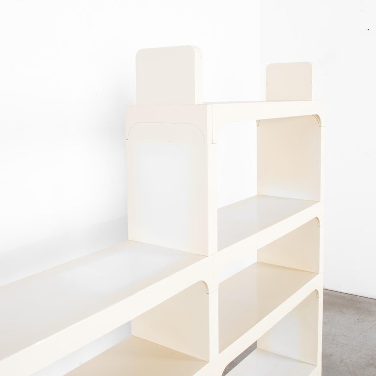 Mid-Century Modern White Modular Shelves by Olaf von Bohr In Good Condition In High Point, NC