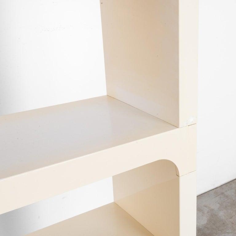 Laminate Mid-Century Modern White Modular Shelves by Olaf von Bohr