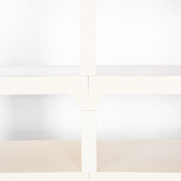 Mid-Century Modern White Modular Shelves by Olaf von Bohr 1
