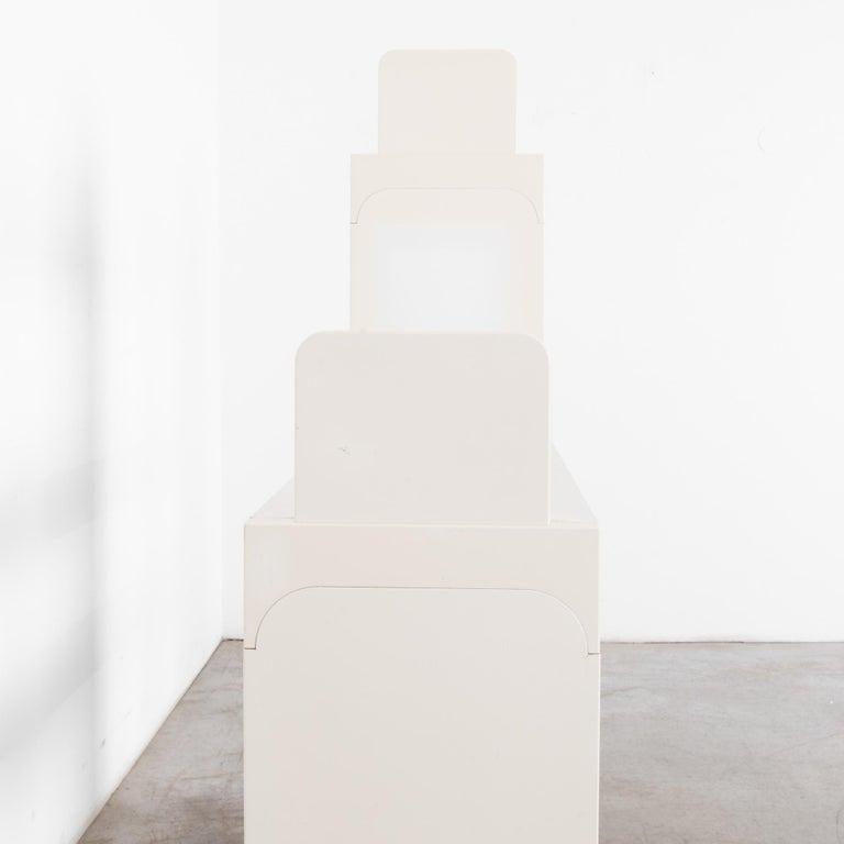Mid-Century Modern White Modular Shelves by Olaf von Bohr 2