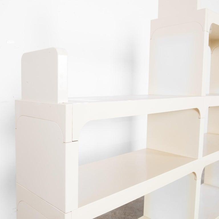 Mid-Century Modern White Modular Shelves by Olaf von Bohr 3