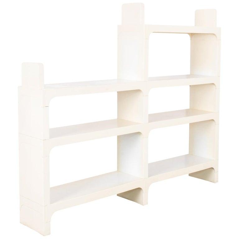Mid-Century Modern White Modular Shelves by Olaf von Bohr