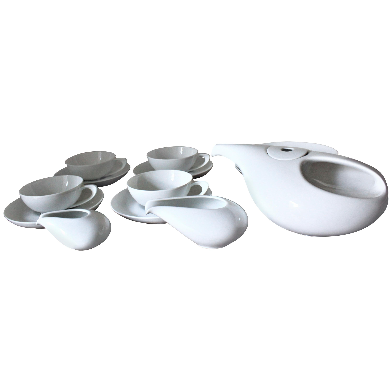 Mid-Century Modern White Rosenthal Tea, Luncheon or Bridge Set