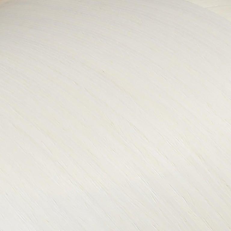 Contemporary Mid-Century Modern White Wood Veneer Chandelier Pendant