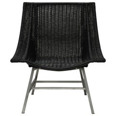 Mid-Century Modern Wicker Chair