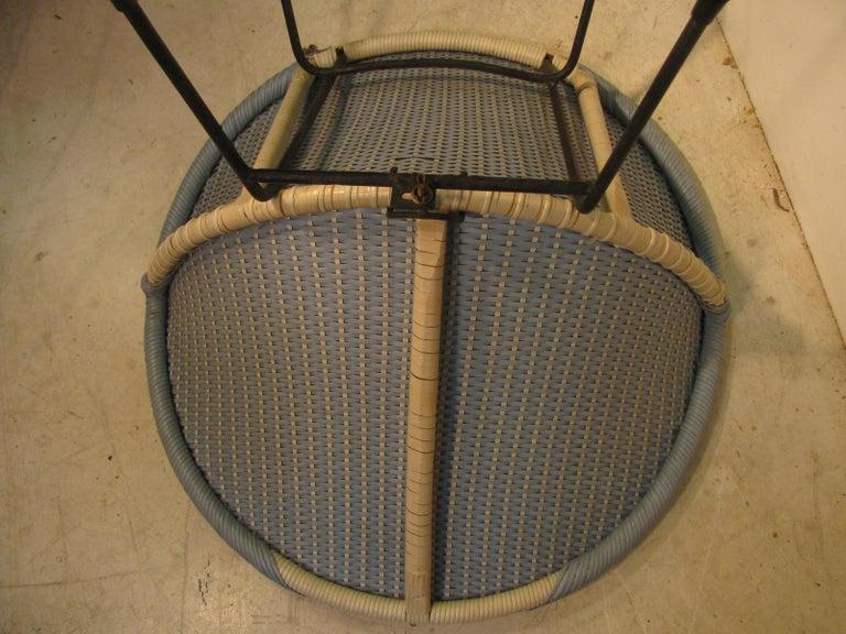 Mid-Century Modern Wicker Hoop Lounge Chair     For Sale 5