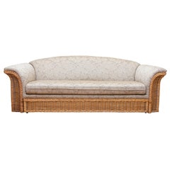 Mid-Century Modern Wicker Sofa